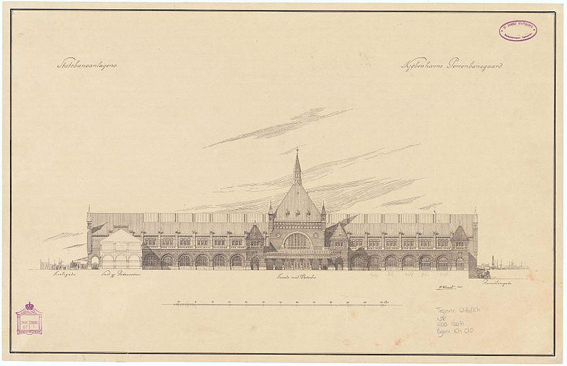 Копенгаген: проект вокзала, 1905