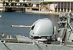 4.5 inch Mark 8 naval gun of HMS Avenger (F185) 1992.JPEG