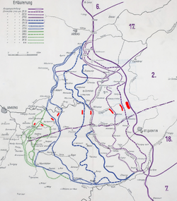 66 Division on German map of Spring Offensive - 4 April 1918.png