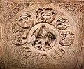 6th century Brahma on Cave 3 ceiling, Badami Hindu cave temple Karnataka 2.jpg