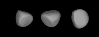 776 Berbericia - A three-dimensional model of 776 Berbericia based on its light curve.