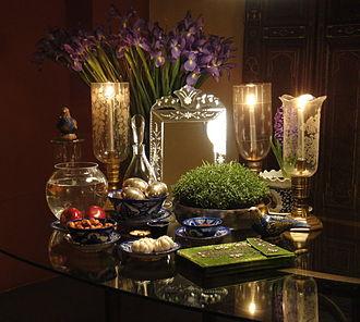 Haft-sin - A Haft-seen table.
