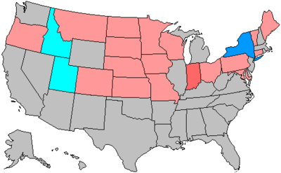 United States House Of Representatives Elections Wikipedia - Us election 1960 map