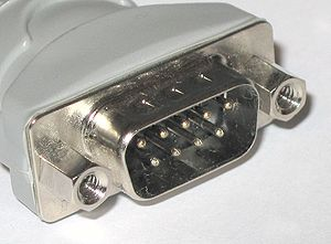CAN bus - A male DE-9 connector (Plug).