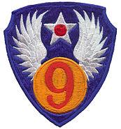 9th US Air Force emblem - World War II