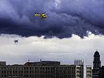 ADAC Rescue Helicopter over Alexanderplatz.jpg