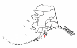 Location of Akhiok, Alaska