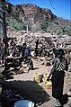 ASC Leiden - W.E.A. van Beek Collection - Dogon markets 24 - Selling baskets and meat at Tireli market, Mali 1984.jpg