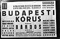 A Palestrina és a Cecilia kórus egyesüléséből alakut Budapesti Kórus hangversenyét hirdető plakát. Fortepan 71928.jpg