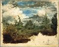 A Wooded Hillside. Study (Kilian Zoll) - Nationalmuseum - 20936.tif