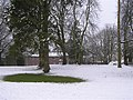 A green spot in the snow, Omagh - geograph.org.uk - 1712853.jpg
