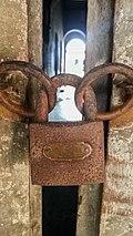 A locked door in the Baliati Jomidar Bari.jpg