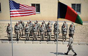 Jowzjan Province - NATO-trained Afghan Border Police in Sheberghan