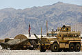 A view of U.S. Army facilities and a mine-resistant, ambush-protected vehicle May 30, 2013, at Forward Operating Base Hadrian, the last coalition forces base scheduled to be deconstructed in Uruzgan province 130530-O-MD709-090.jpg