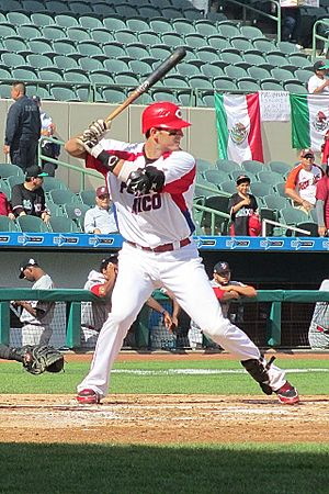 Aaron Bates - Aaron Bates playing for Puerto Rico at the 2013 Caribbean Series