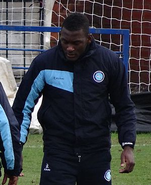 Aaron Pierre - Pierre training with Wycombe Wanderers in 2014