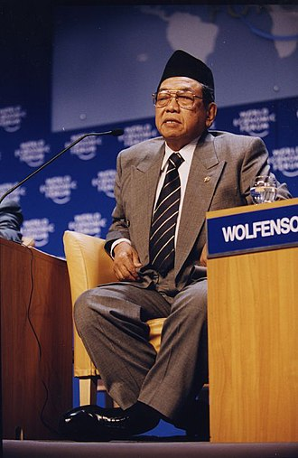 Abdurrahman Wahid - Wahid at the 2000 annual meeting of the World Economic Forum