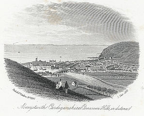 Aberystwith, Cardiganshire (Carnarvon hills in distance)
