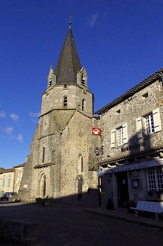 Abjat-sur-Bandiat - The church in Abjat-sur-Bandiat