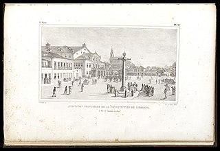 Acceptation provisoire de la constitution de Lisbonne: à Rio de Janeiro, en 1821