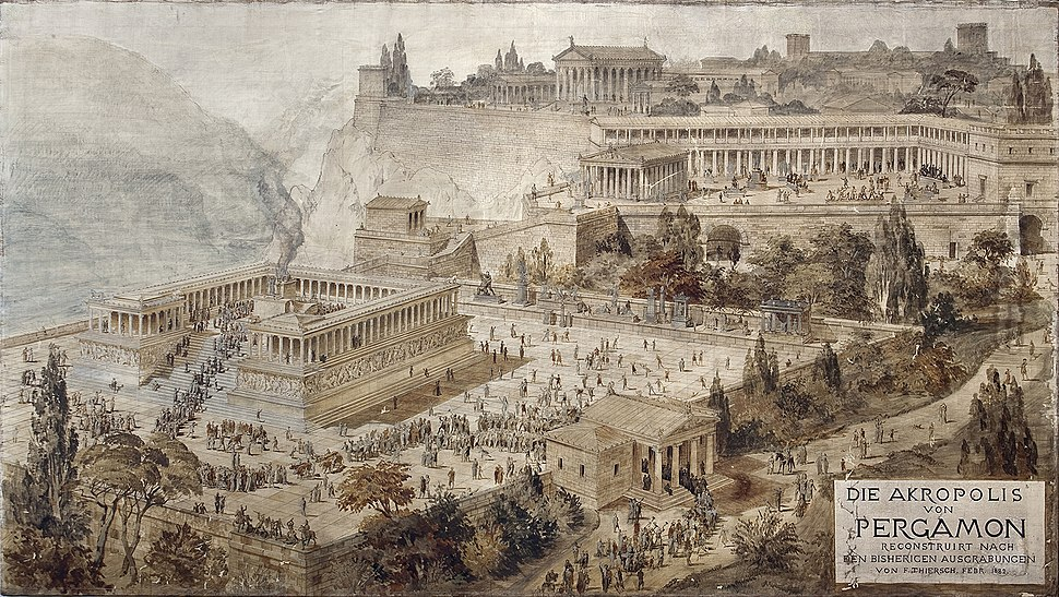 Acropolis of Pergamon - Friedrich Thierch - 1882