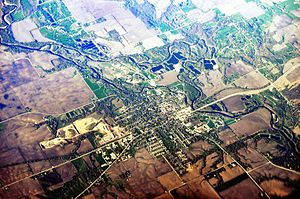 Adel, Iowa - Aerial View of Adel