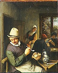 A Man Smoking in an Inn