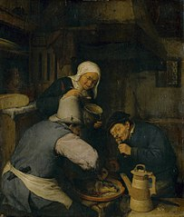 Two Peasants Feasting