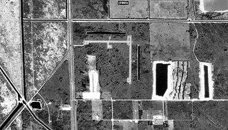 Opa-locka West Airport - Aerial view of Opa-Locka West Airport in 1985