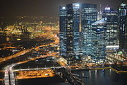 Aerial view of Marina Bay Financial Centre, Singapore, at night - 20121010.jpg