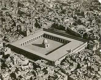 K. A. C. Creswell - Aerial view of Ibn Tulun's mosque and the surrounding neighborhood