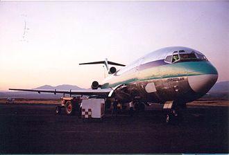 Aerolíneas Internacionales - An Aerolíneas Internacionales B727 at Cuernavaca Airport.