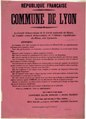 Affiche seconde Commune de Lyon, Archives municipales de Lyon, 6fi 6832.TIF