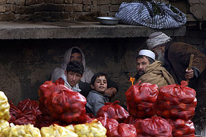 Brick and mortar - Image: Afghan fruit stall 2 4 09