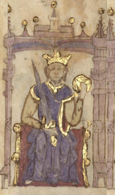 Alfons I, miniature from the 13th / 14th centuries  century