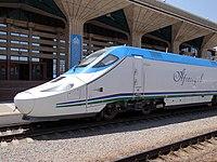 Afrosiyob Express Train in Station - Samarkand - Uzbekistan (7502824436) (3).jpg