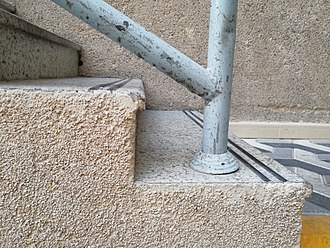 Stair nosing - Anti-slip rubber lines and small nose on the edge to broaden the steps