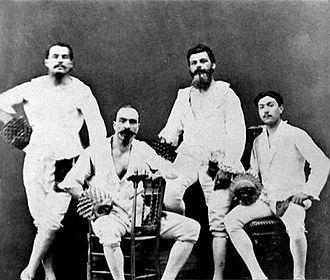 Pallone - Pallone col bracciale team, middle 19th century
