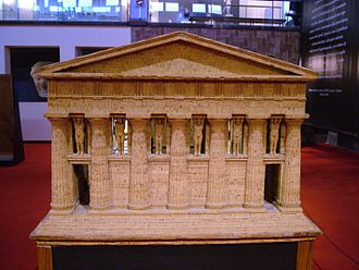 Temple of Olympian Zeus, Agrigento - Model of the Temple of Olympian Zeus in the Archaeological Museum, Agrigento
