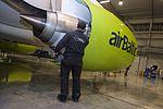 AirBaltic Bombardier CS300 mainenance (32406527613).jpg