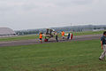 Airco DH.2 Rolling out 02 Dawn Patrol NMUSAF 26Sept09 (14413317128).jpg