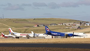 Eastern Airways - Two Eastern Saab 2000s in the new and old liveries