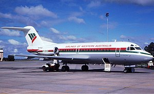 Airlines of Western Australia Fokker F28-1000 Wheatley.jpg