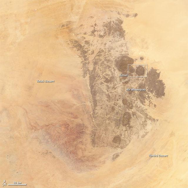 Aïr Mountains in the Sahara