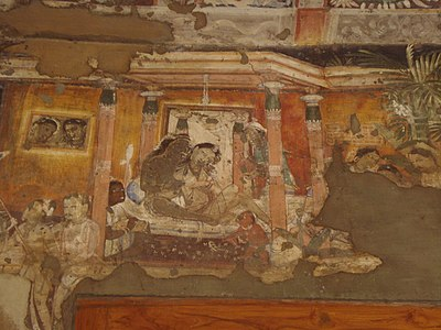 Ajanta Caves, Painting 1.JPG