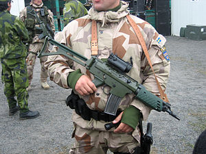 Splittertarnmuster - Swedish M90K desert camouflage