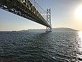 Akashi Strait Bridge and Awajishima Island 20190202-1.jpg