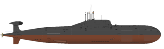 Russian submarine Nerpa (K-152) - INS Chakra of the Indian Navy