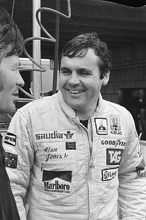 1979 Formula One season - Australian Alan Jones (pictured in 1980) finished third in the Drivers' Championship, driving for Williams.