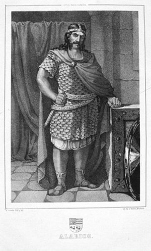 Alaric II - An artist's imagining of Alaric II in an illustration at the Biblioteca Nacional de España